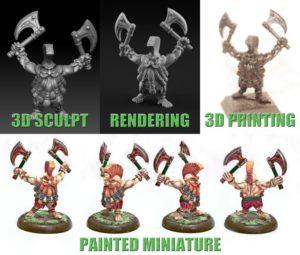 personaggi stampati 3D